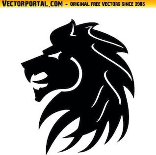 Cabeça de leão tribal estilo do ícone do vetor