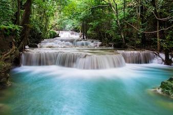 Cachoeira céu belo parque queda