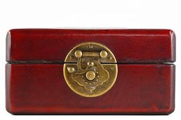 caixa de jóias vintage velho