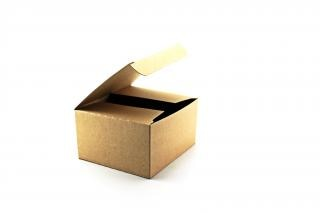 Caixa de papelão, transporte