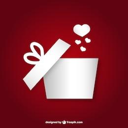 Caixa de presente com coração