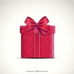 Caixa de presente vermelha com fita