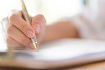 Caixa de seleção conceitos de escrita de mão sim