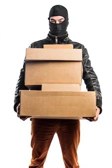 Caixas de segurar ladrão