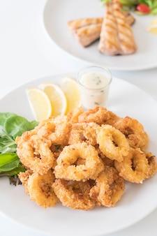 Calamares fritos (anéis de calamares)