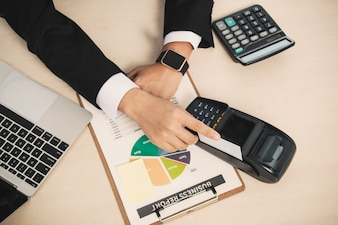 Calculadora móvel empresa de pagamento