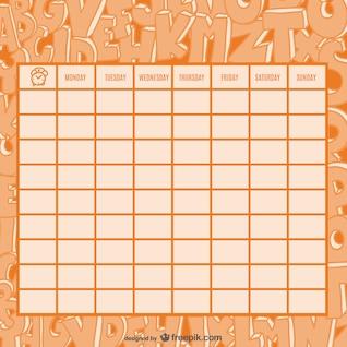 Calendário de boas cartas de desenho