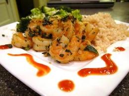 camarão alho pimentão
