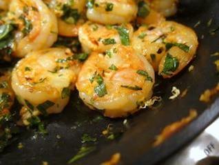 camarão cozinhar