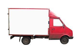 Caminhão vermelho