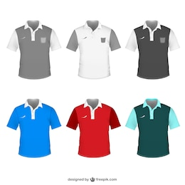 Camisa polo template vector