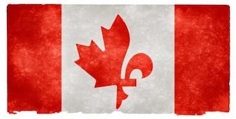 Canadá fusão grunge bandeira