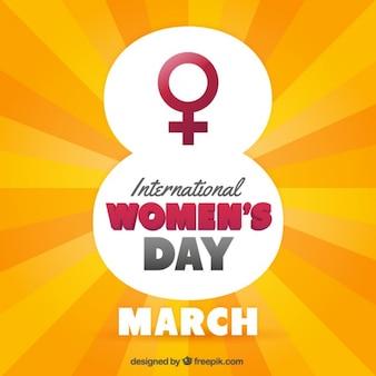 Cartão para o dia das mulheres