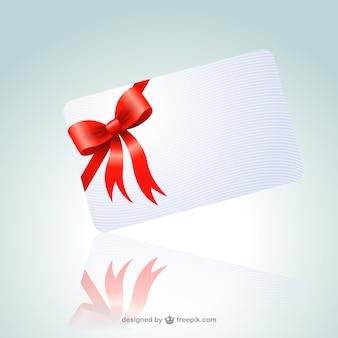 Cartão com fita vermelha