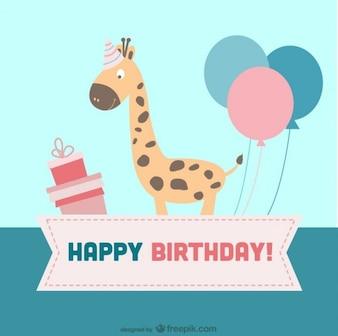 Caricatura cartão de aniversário