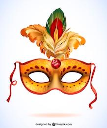 Carnaval projeto máscara de vetor