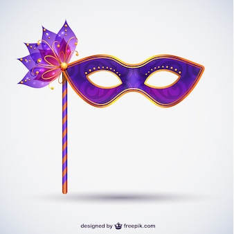 Máscara do carnaval em tons de roxo