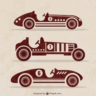 Carros antigos vector