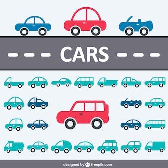 Carros ícone coleção