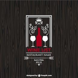 Carta de vinhos desenho livre