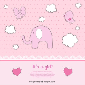 Cartão Bebé bonito