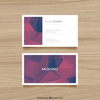 Cartão com polígonos abstratos