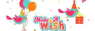 Cartão de aniversário fazer um desejo