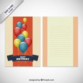 Cartão de aniversário no estilo do scrapbook