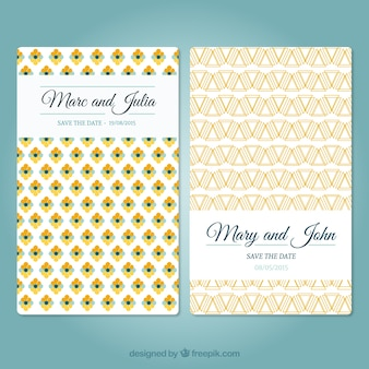 Cartão de casamento com teste padrão abstrato