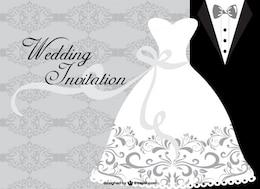 Cartão de casamento minimalista