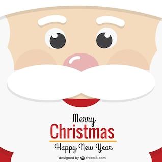 Cartão de Natal Papai Noel rosto