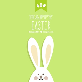 Cartão de páscoa com coelho