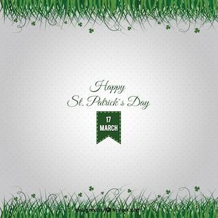 Cartão de St Patrick com grama