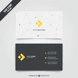 Cartão de visita com design moderno