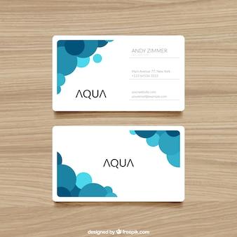 Cartão de visita com pontos azuis