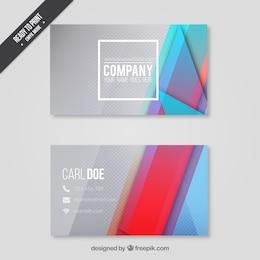 Cartão de visita com um design moderno