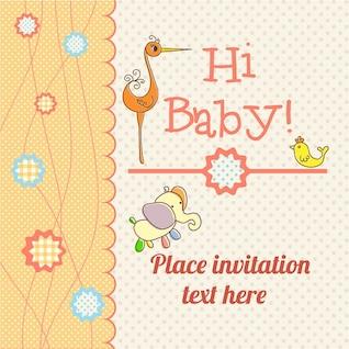 Cartão do anúncio do bebê download grátis