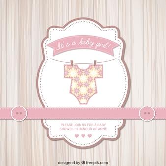 Cartão do chuveiro de bebê para menina