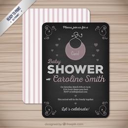 Cartão do chuveiro de bebê Retro