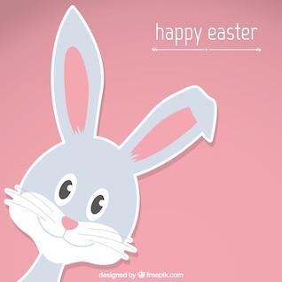 Cartão do coelhinho da páscoa feliz