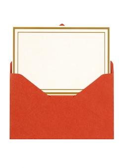 Cartão do convite com envelope vermelho