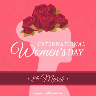 Cartão do dia das mulheres internacionais