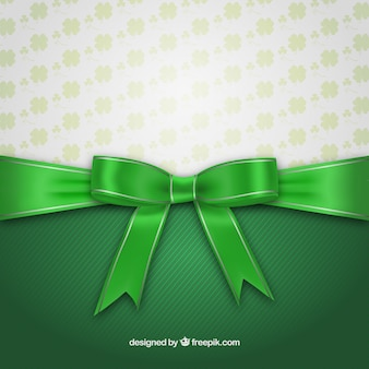 Cartão do dia de St Patrick com fita