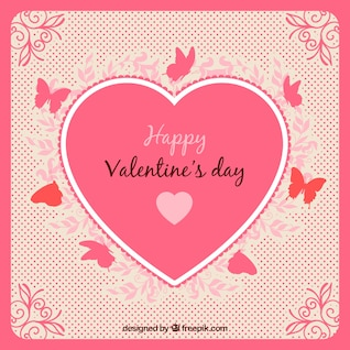 Cartão do Valentim com coração decorativo
