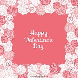 Cartão do Valentim com rosas