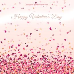 Cartão dos namorados com corações pequenos