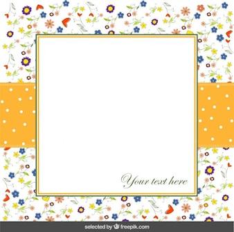 Cartão floral colorido
