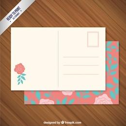 Cartão floral pós