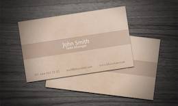 Cartão marrom