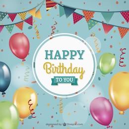 Cartão para aniversário